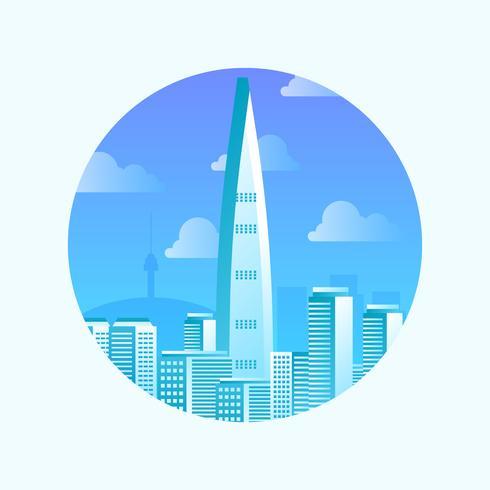 Seoul Landmark Vector Illustration
