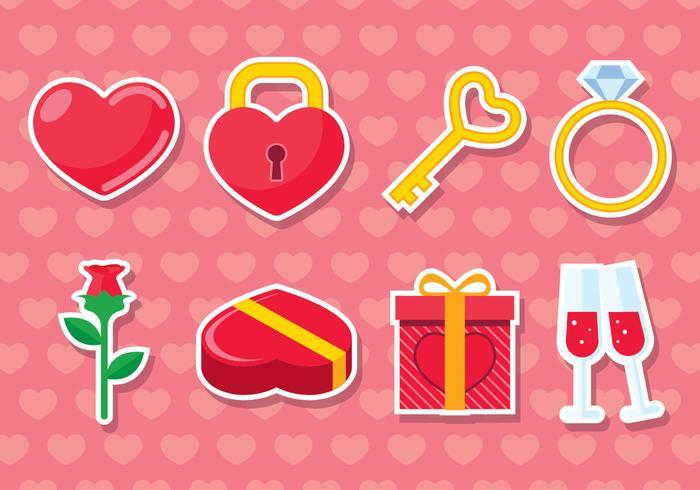 Insieme di elementi di San Valentino vettore