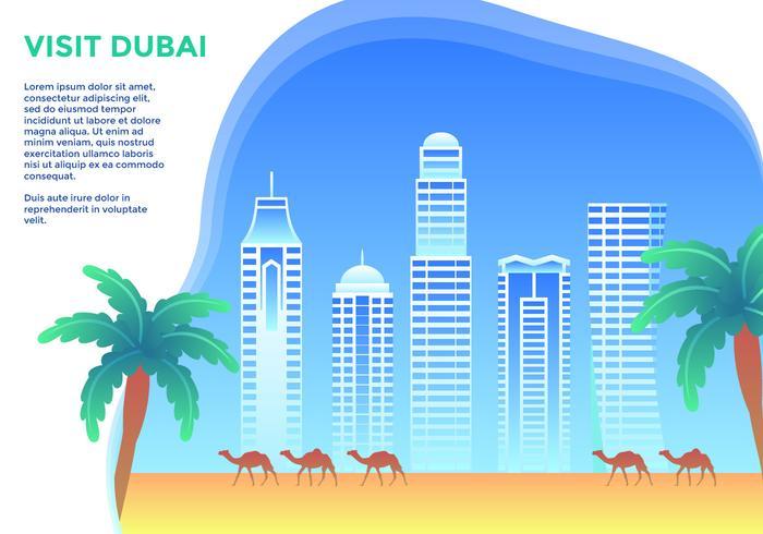 Bezoek Dubai Vector