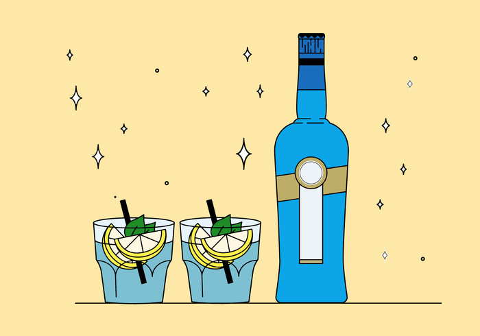 Bebidas grátis vector