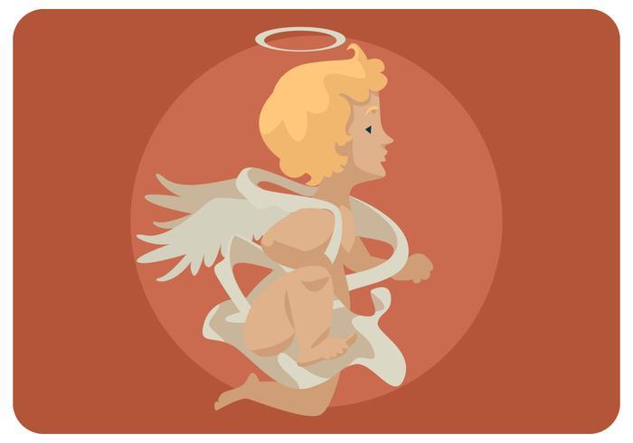 Vetor de Cupido voador