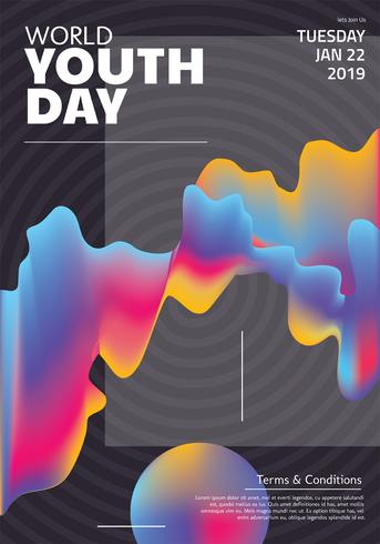 Journée mondiale de la jeunesse Vector Design