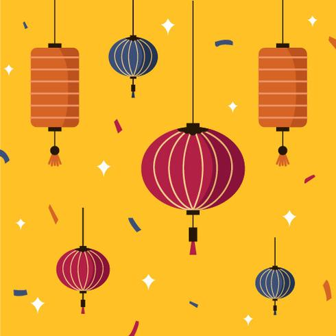 Taiwan-Himmel-Laternen-Festival-Vektor