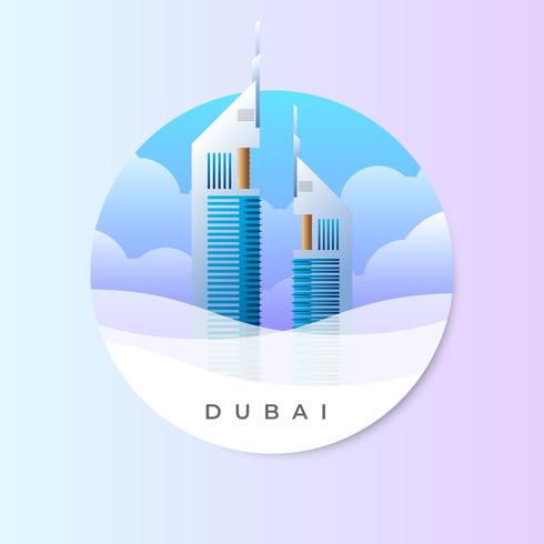 Emiraten toren landmark concept illustratie vector