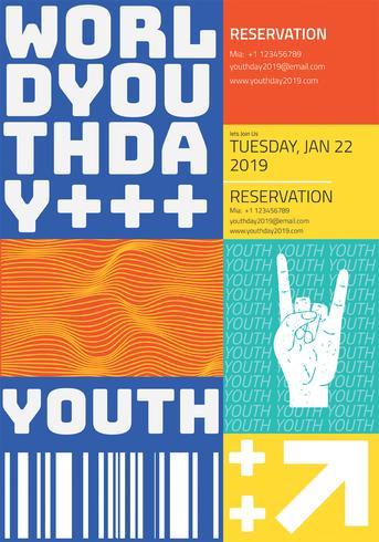 Diseño vectorial de la Jornada Mundial de la Juventud