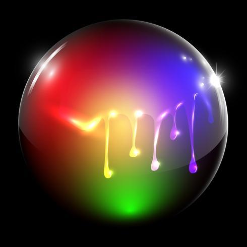Flowing painted sphere