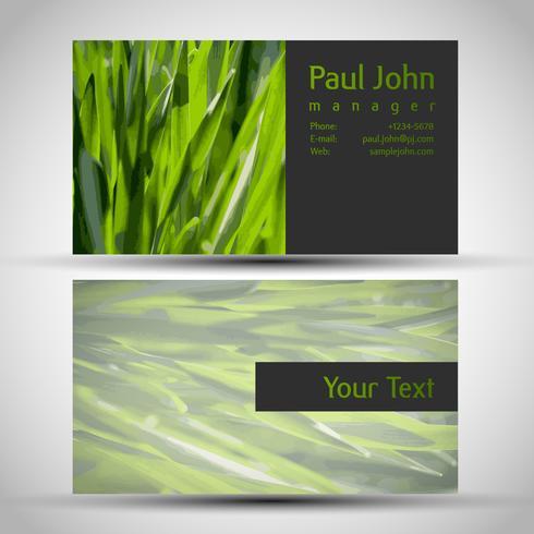 Design de cartão de visita colorido e elegante vetor