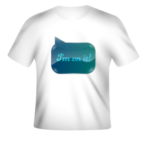 Vektort-shirt Design mit buntem Design