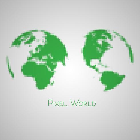 gepixelleerde aarde vector
