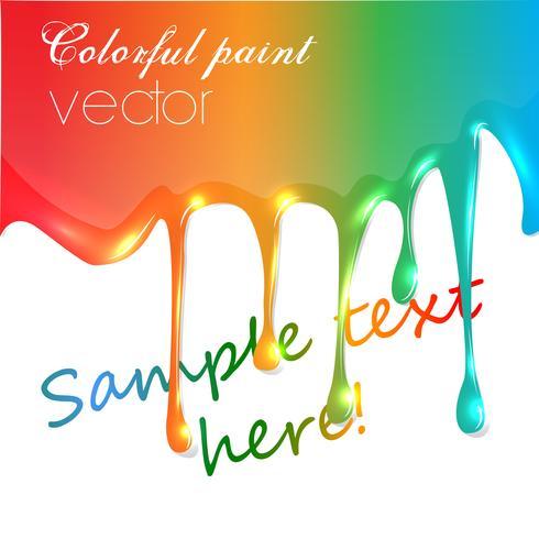 Goteo de pintura colorida vector realista