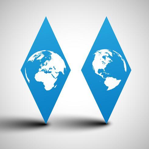 Illustration vectorielle de globe terrestre vecteur