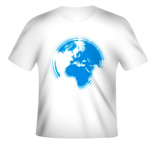 Vector t-shirt design with colorful design