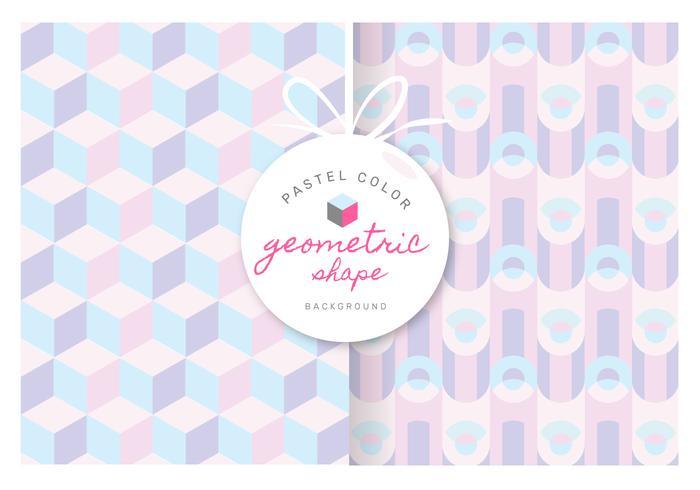 Geometrisches Muster mit Pastellfarbvektor-Hintergrund vektor