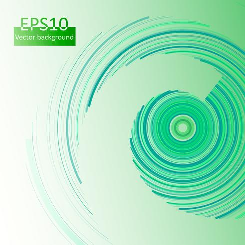 Green circles background in eps10, vector illustration