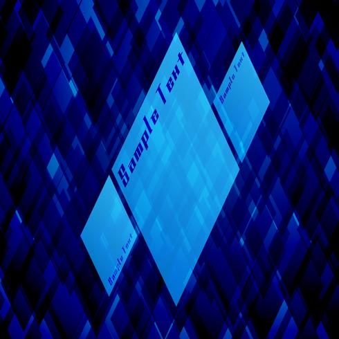 Modello vettoriale blu per la pubblicità