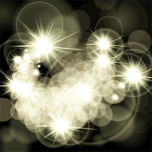 Stjärnor som lyser på svart bakgrund