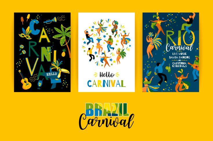Carnaval de Brasil. Plantillas vectoriales para el concepto de carnaval y otros usuarios.