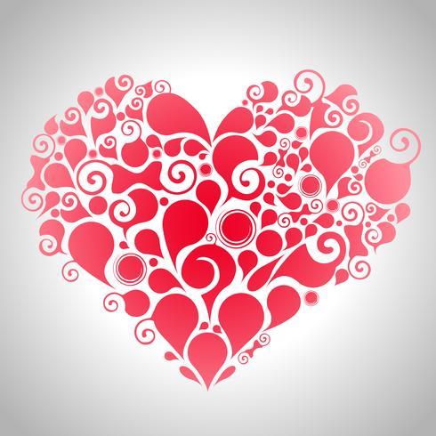 Coeur rouge abstrait vecteur