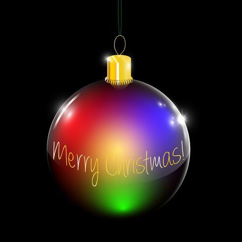 Christmas decoration bulb vector
