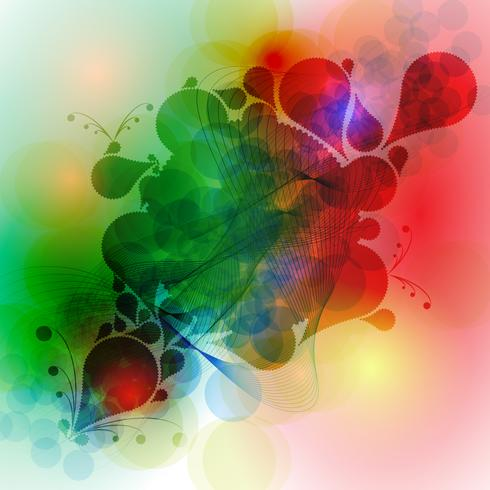 Vector de fondo abstracto colorido