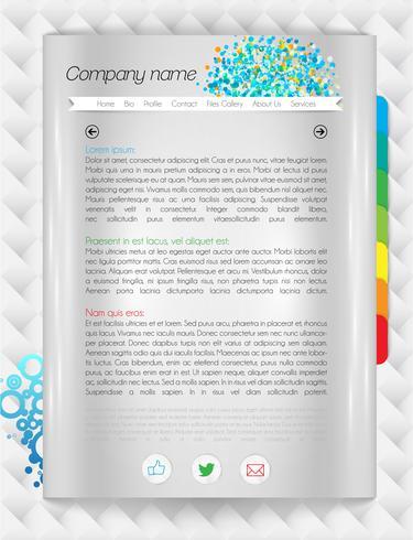 Moderno sito Web di una pagina, illustrazione vettoriale