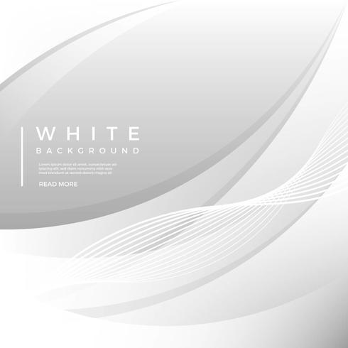 Fond plat moderne vecteur blanc