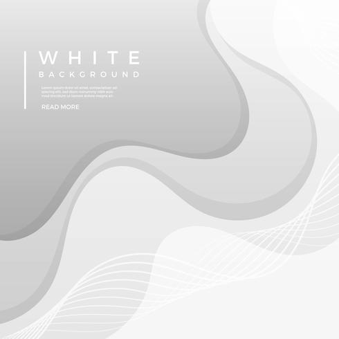 Fondo plano limpio vector blanco