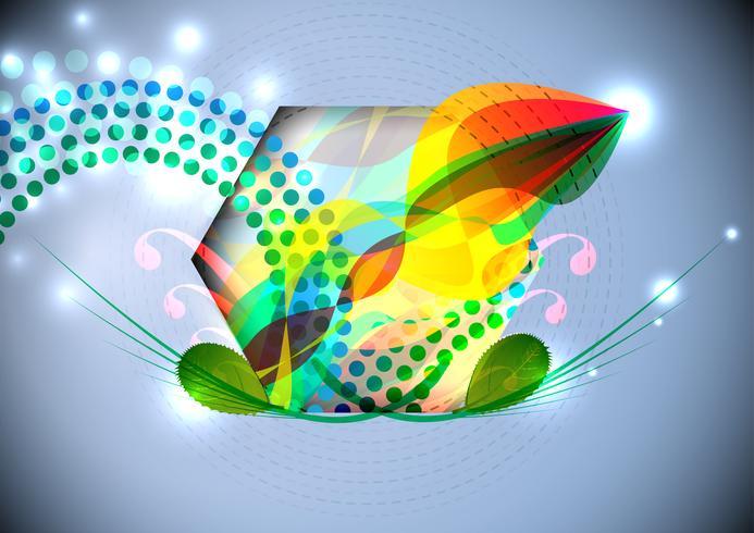 Hexagone aux formes abstraites vecteur