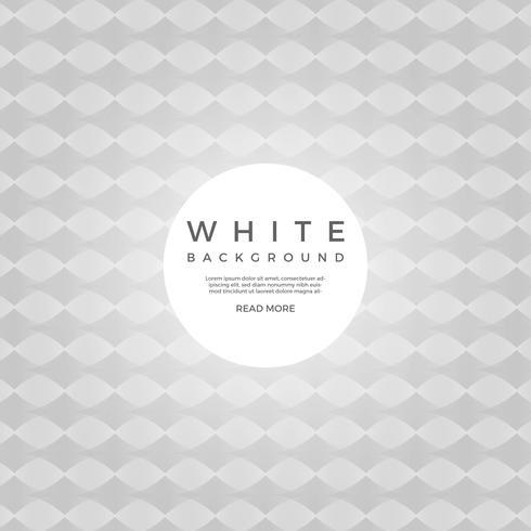Fondo geometrico bianco piano di vettore