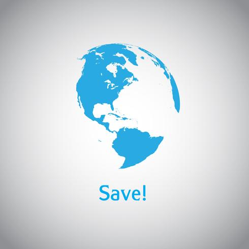 Save the World-vectorsymbool vector