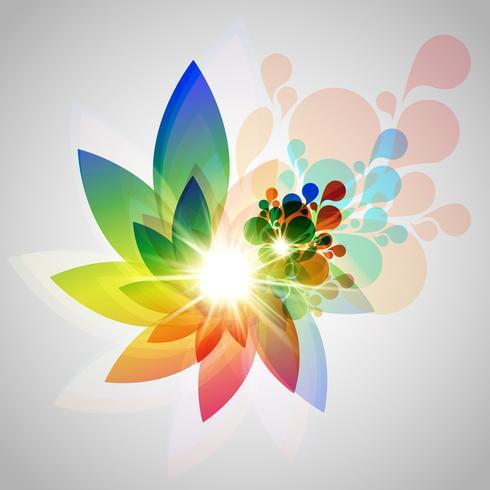 Vector ilustración colorida flor