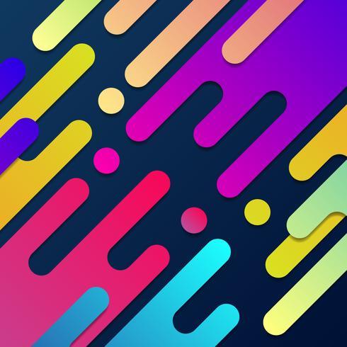 Kleurrijke moderne abstracte lay-out en achtergrond