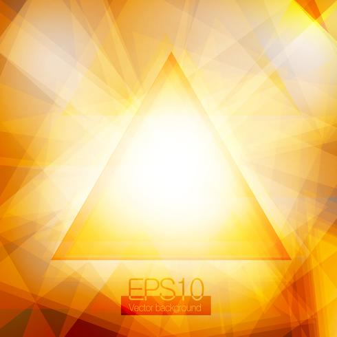 Triangles abstraits jaunes