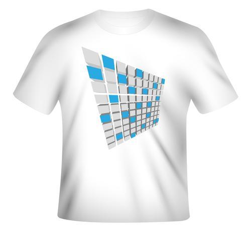 Design de t-shirt Vector avec design coloré