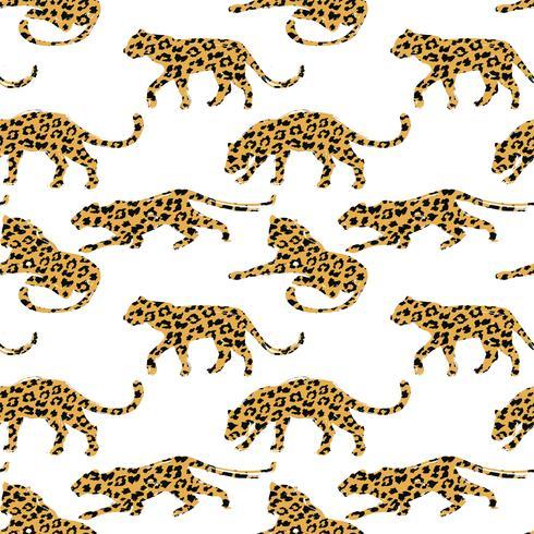 Seamless pattern esotico con sagome astratte di animali. vettore