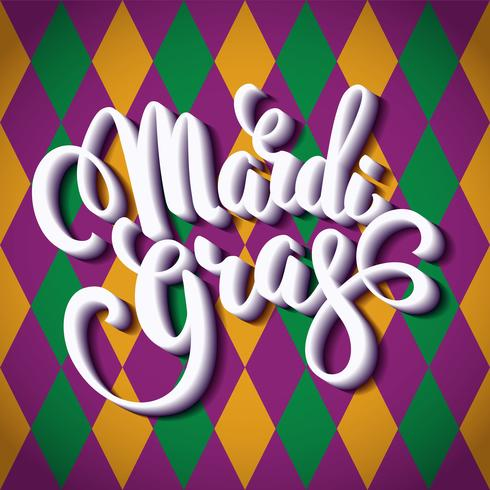 Mardi Gras. Lettering design for Banners, Flyers, Placards, Posters and other use. vector