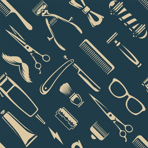 Barber Tools Seamless Texture Vector