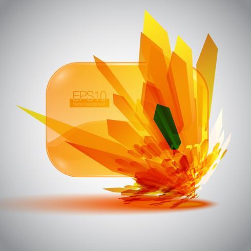 3D speech bubble with an orange detonation. vector