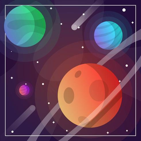 platt modern galax vektor bakgrund