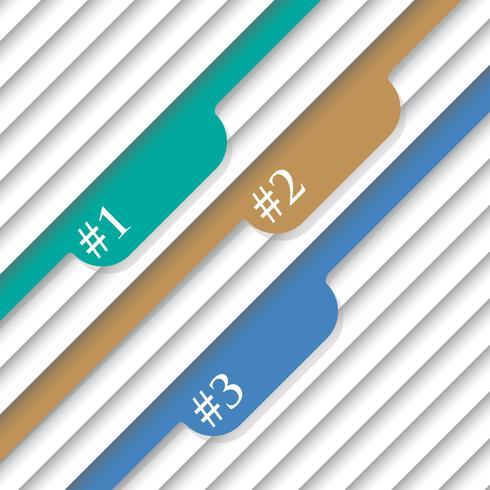 Genummerde sjablonen - vectorontwerp