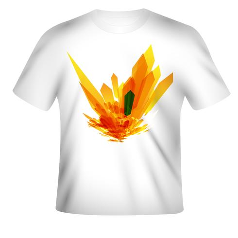 Vektort-shirt Design mit buntem Design