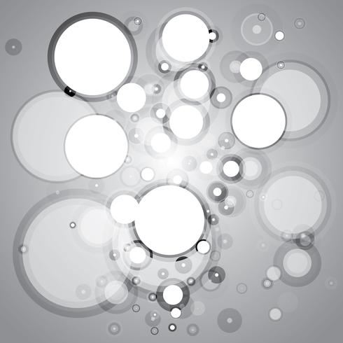 Abstract black and white circles vector