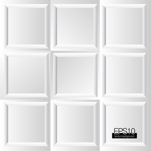 Fundo de quadros brancos de design vetor