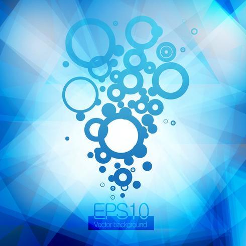 Eau bleue et bulles montantes vecteur