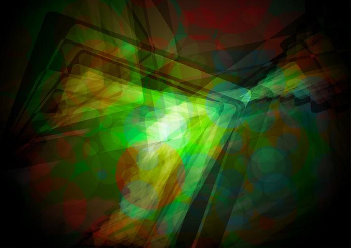 Vettore lucido verde astratto