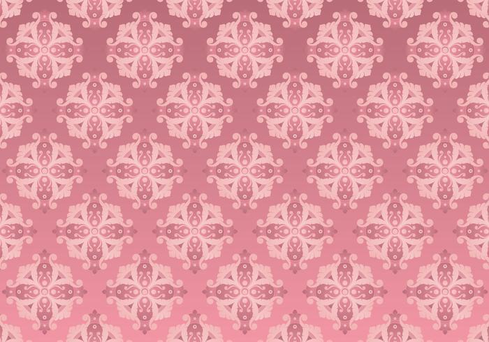 Motif Rococo Or Rose