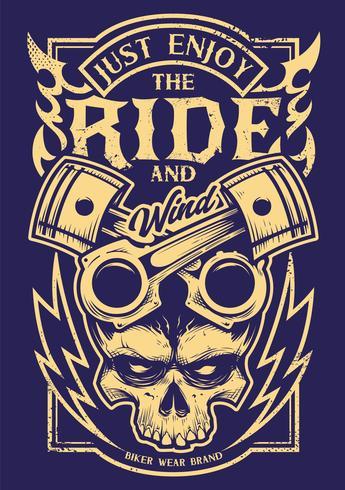basta goderti la cavalcata del motociclista d'arte