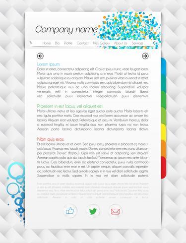 Moderne einseitige Website, Vektorillustration
