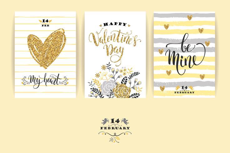 Set van Happy Valentines Day-kaarten.
