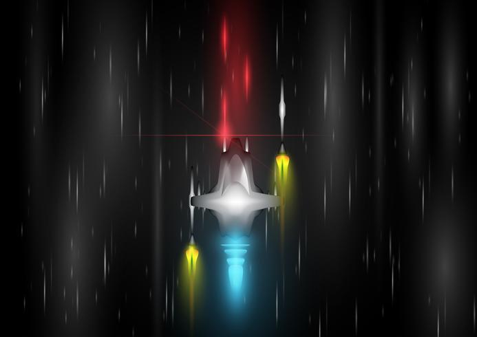 Astronave per i giochi, illustrazione vettoriale